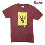 【Altamont】WEED WINK TEE カラー:oxblood 【オルタモント】【スケートボード】【ティーシャツ/半袖】
