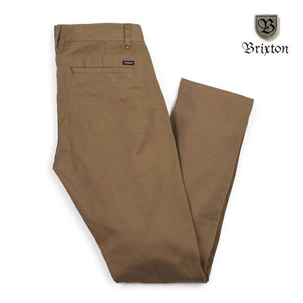 【BRIXTON】GRAIN SLIM CHINO pants カラー:dark khaki 【ブリクストン】【スケートボード】【パンツ/チノ】