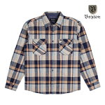 【BRIXTON】FLYNN L/S flannel カラー:navy/khaki 【ブリクストン】【スケートボード】【シャツ/長袖】