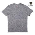 【BRIXTON】BASIC POCKET tee カラー:heather grey 【ブリクストン】【スケートボード】【ティーシャツ/半袖】