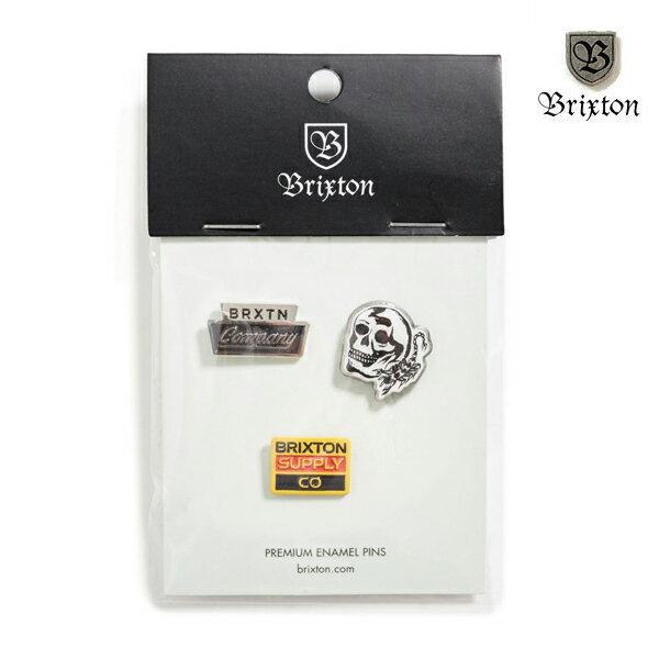 【BRIXTON】LUKER pin pack カラー:multi 【ブリクストン】【スケートボード】【ピンズ/小物】