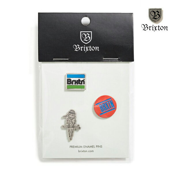 【BRIXTON】NOBEL pin pack カラー:multi 【ブリクストン】【スケートボード】【ピンズ/小物】
