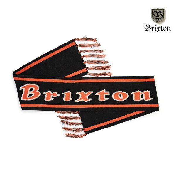 【BRIXTON】PROXY SCARF カラー:black/orange 【ブリクストン】【スケートボード】【スカーフ/小物】