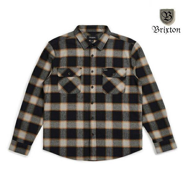 【BRIXTON】BOWERY L/S flannel カラー:black/cream 【ブリクストン】【スケートボード】【ネルシャツ】