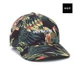 【HUF】PENTHOUSE CURVE BRIM HAT PALM カラー:PALM 【ハフ】【スケートボード】【キャップ/帽子】