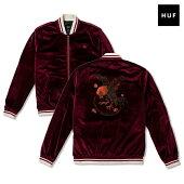 【HUF】WILD COCK BOMBER JACKET カラー:burgundy 【ハフ】【スケートボード】【ジャケット】