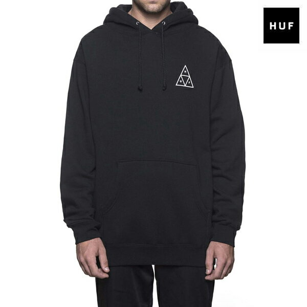 【HUF】ESSENTIALS TT P/O HOODIEE カラー:black 【ハフ】【スケートボード】【フード/プルオーバー】