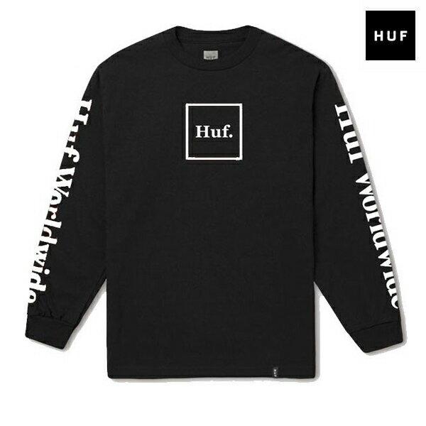 【HUF】DOMESTIC L/S TEE カラー:black 【ハフ】【スケートボード】【Tシャツ/長袖】