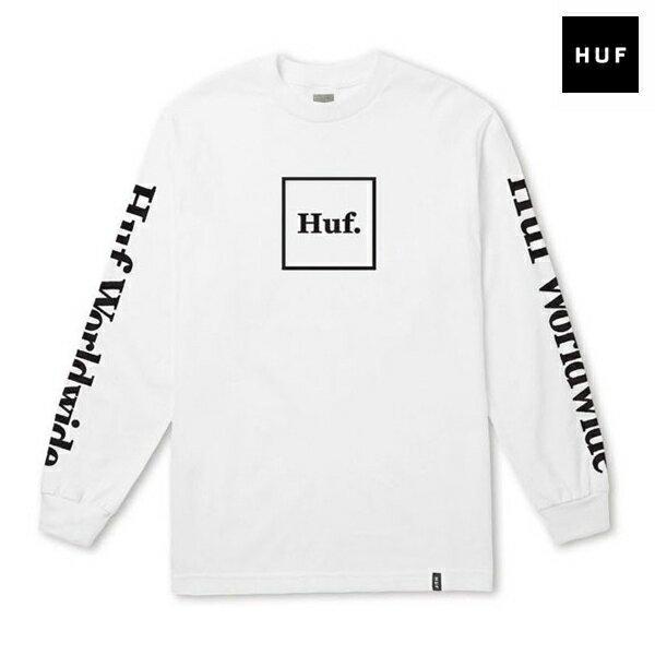 【HUF】DOMESTIC L/S TEE カラー:white【スケートボード】【Tシャツ/長袖】