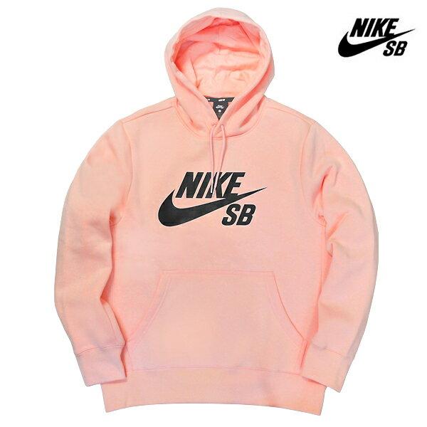 【NIKE SB】ICON ESSENTIAL PO HOODIE カラー:storm pink/obsidianAJ9734-646【ナイキ エスビー】【スケートボード】【パーカー/プルオーバー】