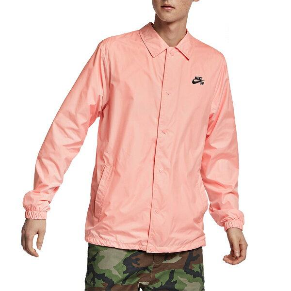 【NIKE SB】SHIELD Coaches Jacket カラー:storm pink/obsidian 829510-646【ナイキ エスビー】【スケートボード】【ジャケット】