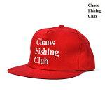 【Chaos Fishing Club】LOGO TRUCKER CAP カラー:red カオスフィッシングクラブ 帽子 キャップ スケートボード スケボー SKATEBOARD