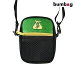 【BUMBAG×SHAKE JUNT】COMPACT SHOULDER BAG カラー:black/green バムバッグ シェイク ジャント ポーチ バッグ スケートボード スケボー SKATEBOARD