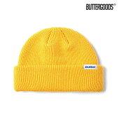 【BUTTER GOODS】WHARFIE BEANIE カラー:yellow バターグッズ ビーニー ニット帽 キャップ スケートボード スケボー SKATEBOARD