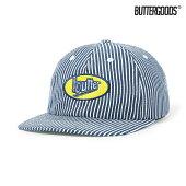 【BUTTER GOODS】WORK 6 PANEL CAP カラー:hickory stripe バターグッズ キャップ 帽子 スケートボード スケボー SKATEBOARD