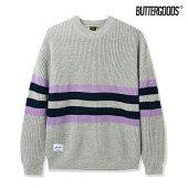 【BUTTER GOODS】MOOR SWEATER カラー:grey/mauve/navy バターグッズ トップス セーター スケートボード スケボー SKATEBOARD