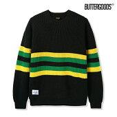 【BUTTER GOODS】MOOR SWEATER カラー:black/yellow/green バターグッズ トップス セーター スケートボード スケボー SKATEBOARD