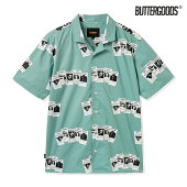 【BUTTER GOODS】CARDS S/S SHIRT カラー:sage バターグッズ トップス 半袖シャツ スケートボード スケボー SKATEBOARD
