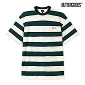 【BUTTER GOODS】PINE STRIPE TEE カラー:forest/navy バターグッズ Tシャツ 半袖 スケートボード スケボー SKATEBOARD