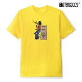 【BUTTER GOODS】ROUND BEAT TEE カラー:yellow バターグッズ Tシャツ 半袖 スケートボード スケボー SKATEBOARD
