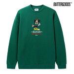 【BUTTER GOODS】EVERYDAY CREWNECK カラー:green バターグッズ スウェット クルーネック スケートボード スケボー SKATEBOARD