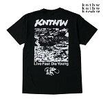 【KNTHW×VERDY】LIVE FAST DIE YOUNG TEE カラー:black ケント ハードウェア ベルディー Tシャツ 半袖 スケートボード スケボー SKATEBOARD