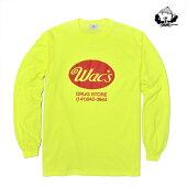 【WACKWACK】WAC'S long sleeve カラー:yellow 【ワックワック】【スケートボード】【Tシャツ/ロングスリーブ】