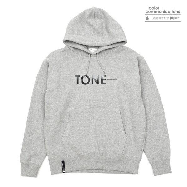 【COLOR COMMUNICATIONS】TONE HOOD SWEAT カラー:grey 【カラーコミュニケイションズ】【スケートボード】【フード/プルオーバー】