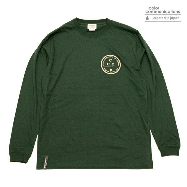 【COLOR COMMUNICATIONS】CCC L/S tee カラー:green 【カラーコミュニケイションズ】【スケートボード】【Tシャツ/長袖】