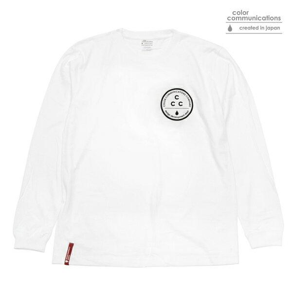 【COLOR COMMUNICATIONS】CCC L/S tee カラー:white 【カラーコミュニケイションズ】【スケートボード】【Tシャツ/長袖】