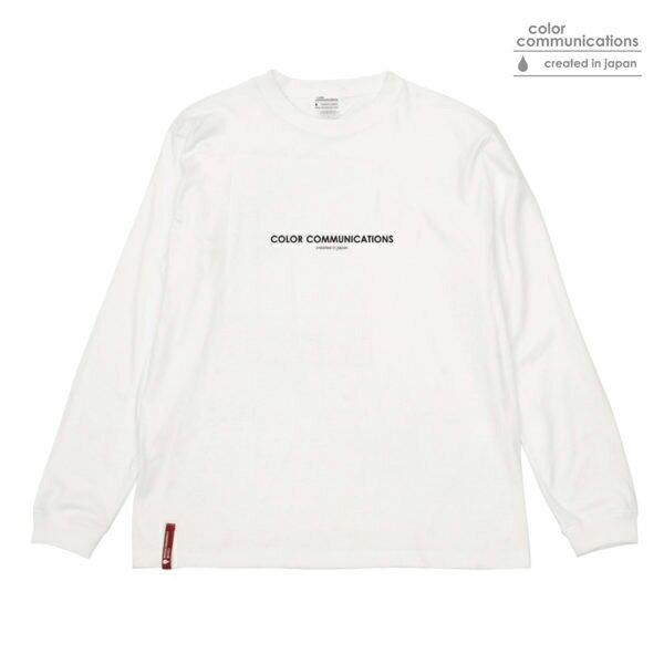 【COLOR COMMUNICATIONS】HP HEADER L/S tee カラー:white 【カラーコミュニケイションズ】【スケートボード】【Tシャツ/長袖】