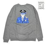 【DOOM SAYERS】CORP COP SWEAT カラー:grey ドゥームセイヤーズ スウェット ックルーネック スケートボード スケボー SKATEBOARD
