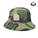 【WACKWACK】MULLET BUCKET HAT カラー:camo 【ワックワック】【スケートボード】【ハット/帽子】