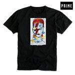 【PRIME】GONZ BOWIE tee カラー:black 【プライム】【マーク・ゴンザレス】【デヴィッド・ボウイ】【スケートボード】【ティーシャツ/半袖】