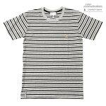 【COLOR COMMUNICATIONS】CLR EMB STRIPE カラー:grey/black 【カラーコミュニケイションズ】【スケートボード】【Tシャツ/半袖】