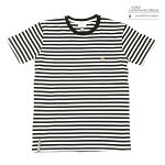 【COLOR COMMUNICATIONS】CLR EMB STRIPE カラー:black/white 【カラーコミュニケイションズ】【スケートボード】【Tシャツ/半袖】