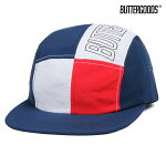 【BUTTER GOODS】OUTLINE 5 PANEL CAMP CAP カラー:red/white 【ブターグッズ】【スケートボード】【キャップ/帽子】