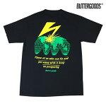 【BUTTER GOODS】BAD WORLD TEE カラー:black 【ブターグッズ】【スケートボード】【Tシャツ/半袖】