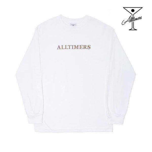 【ALL TIMERS】GROOVY LONGSLEEVE TEE カラー:white 【オールタイマーズ】【スケートボード】【Tシャツ/長袖】