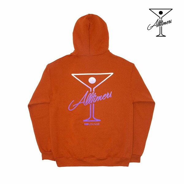 【ALL TIMERS】PUFF CLASSIC LOGO HOODY カラー:texas orange 【オールタイマーズ】【スケートボード】【フード/プルオーバー】