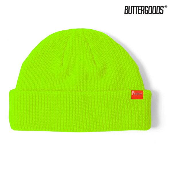 【BUTTER GOODS】WHARFIE BEANIE カラー:safety 【バターグッズ】【スケートボード】【ビーニー/ニット帽】