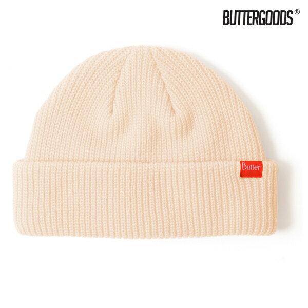 【BUTTER GOODS】WHARFIE BEANIE カラー:ivory 【バターグッズ】【スケートボード】【ビーニー/ニット帽】