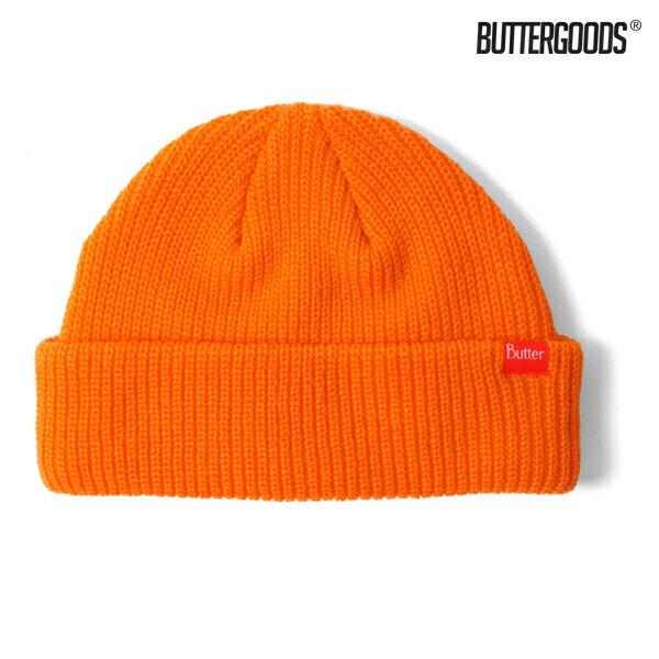 【BUTTER GOODS】WHARFIE BEANIE カラー:orange 【バターグッズ】【スケートボード】【ビーニー/ニット帽】