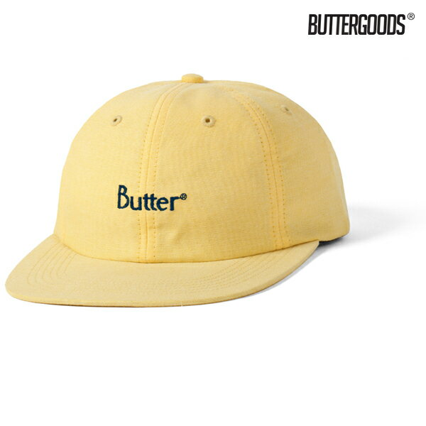 【BUTTER GOODS】CLASSIC LOGO OXFORD 6 PANEL CAP カラー:sunflower 【バターグッズ】【スケートボード】【キャップ/帽子】