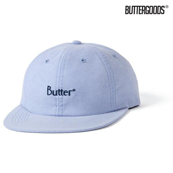 【BUTTER GOODS】CLASSIC LOGO OXFORD 6 PANEL CAP カラー:sky 【バターグッズ】【スケートボード】【キャップ/帽子】