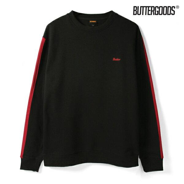 【BUTTER GOODS】BRISTOL CREWNECK SWEAT SHIRT カラー:black 【バターグッズ】【スケートボード】【スウェット/クルーネック】