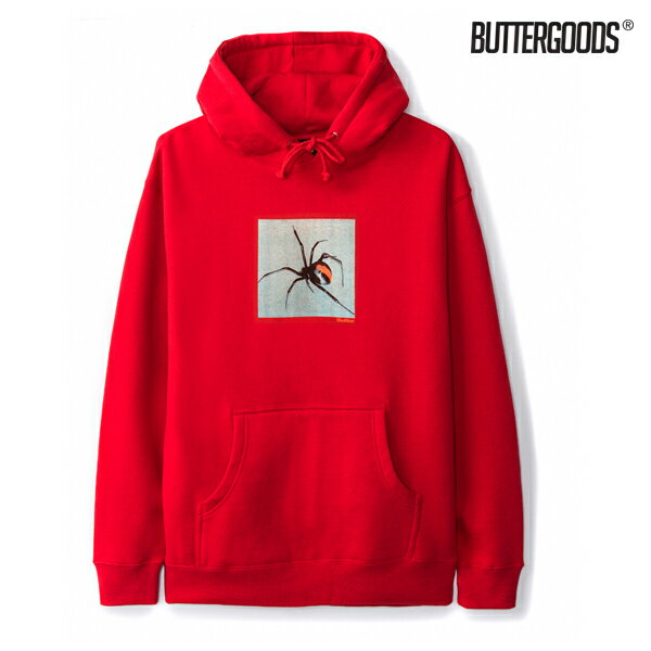 【BUTTER GOODS】REDBACK PULLOVER HOOD カラー:red 【バターグッズ】【スケートボード】【フード/プルオーバー】