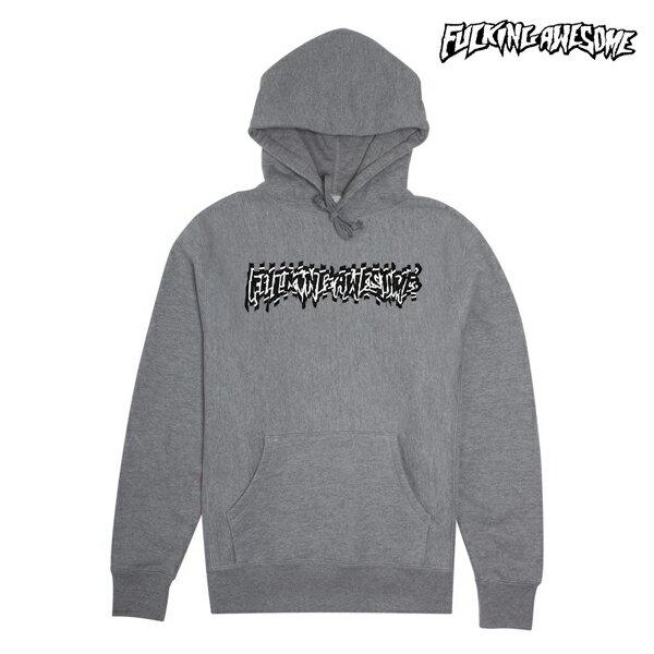【FUCKING AWESOME】SHOCKWAVE hoodie カラー:gray 【ファッキンオウサム】【スケートボード】【パーカー/プルオーバー】