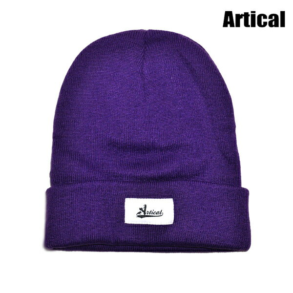 【ARTICAL】BEANIE カラー:purple 【アーティカル】【スケートボード】【ビーニー/ニット帽】