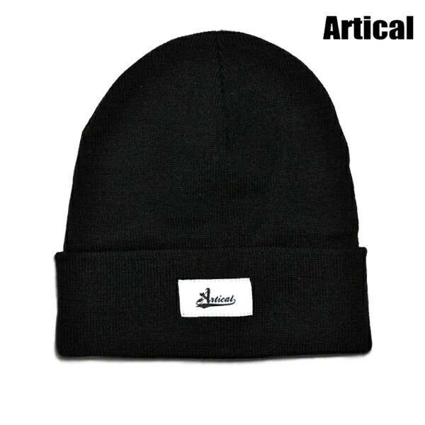 【ARTICAL】BEANIE カラー:black 【アーティカル】【スケートボード】【ビーニー/ニット帽】